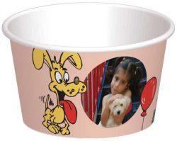 קערית כלבים מתוקים מוצאים בלון - רקע אפרסק