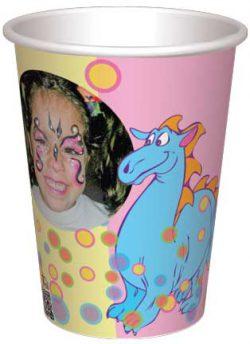 כוס דרקון תכלת ובועות